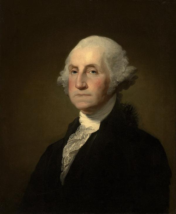 George Washington (1732-1799) le premier président des États-Unis. Il a su rallier les militaires, tout en ne s'attachant pas au pouvoir. (Image : Wikimedia / Gilbert Stuart / Domaine public)