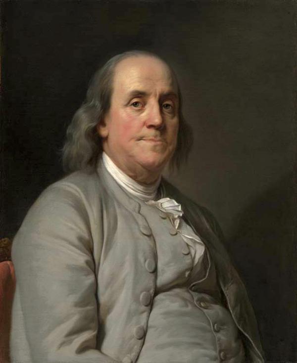«Pourquoi, messieurs, n'avons-nous pas pensé à implorer humblement Dieu d'illuminer notre sagesse ?», paroles prononcées par Benjamin Franklin (1706 – 1790) à la Convention constitutionnelle de 1787. (Image : Wikimedia / Joseph Duplessis/ Domaine public)