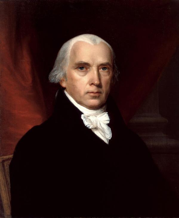 James Madison (1751 – 1836), le 4ème président des États-Unis, a écrit : «Le vrai miracle a été que tant de difficultés ont été surmontées, avec une unanimité sans précédent. (…) Aucun penseur pieux ne peut manquer de la considérer comme le résultat de l'action de la main toute-puissante de Dieu. (Image : Wikimedia / John Vanderlyn / Domaine public)