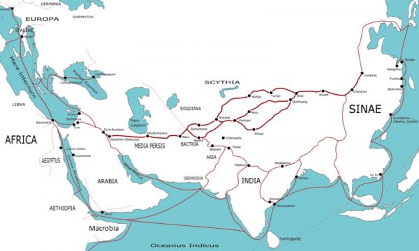 Bien avant la route de la soie, dès le IVe siècle av. J.-C., la soie voyageait vers l'Occident. (Image : Wikimedia / Giao Chỉ / CC-BY-SA-3.0)