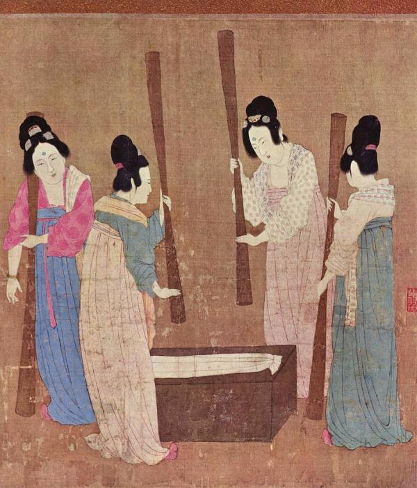 La sériciculture et le tissage sont devenus les tâches principales des femmes chinoises. (Image : Wikimedia / Emperor Huizong of Song / Domaine public)