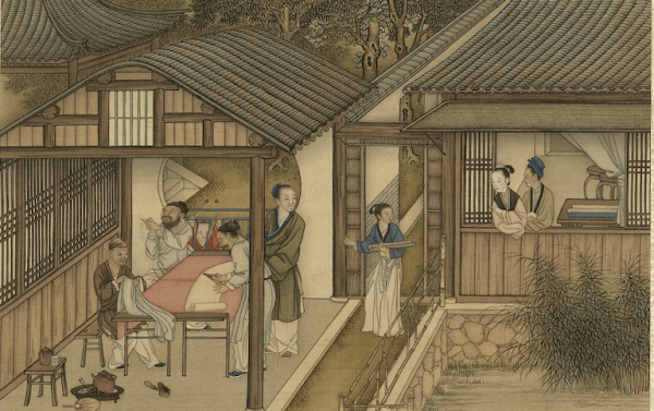 La fête du vêtement d'hiver est une fête traditionnelle chinoise (illustration). (Image : Labour et Tissage, peint par Chen Mei, Dynastie Qing (清朝, 1644 – 1912), Musée national du Palais, Taipei / @CC BY4.0)