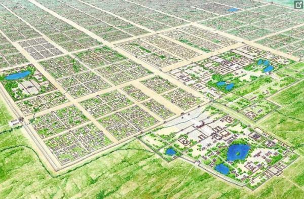 La ville de Chang'an présentait un plan en damier, avec des avenues principales séparant 108 quartiers. (Photo : Shenyunperformingarts.org)