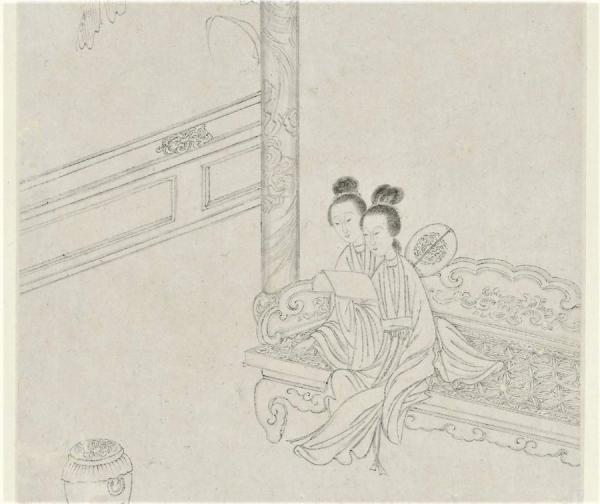 (Image : wikimedia / Poems by Cao Zhenxiu (曹貞秀), 1762–ca. 1822 Paintings by Gai Qi (改琦), 1773–1828 / Domaine public)