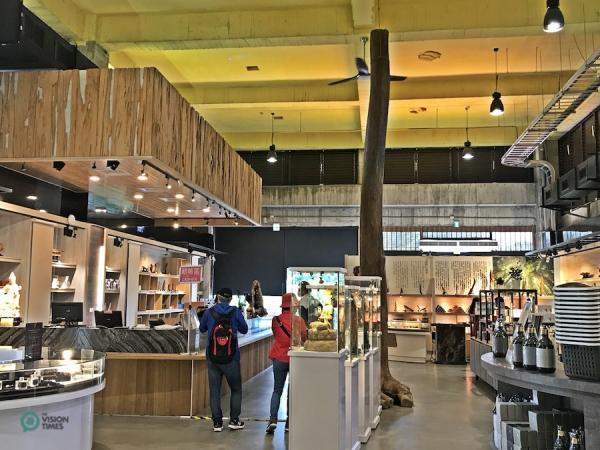 La boutique de souvenirs du musée de la forêt du bois d'agar de ChengLin. (Image : Billy Shyu / Vision Times)