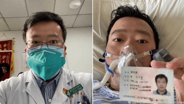 Li Wenliang, le médecin chinois réprimandé pour avoir «répandu des rumeurs» sur la pandémie de Covid-19, est ensuite décédé de la maladie. (Image : Capture d'écran / Twitter)