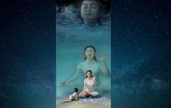 L'enfant innocent voit une scène merveilleuse. (Image : avec l'aimable autorisation de Chen Xiaoping / Epoch MédiaGroup)