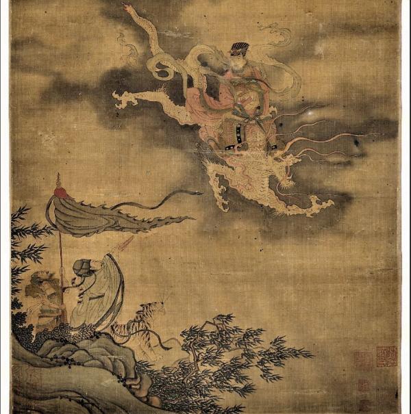 Le dragon qui déplace les nuages et fait pleuvoir. (Image : Peint par Li Gonglin, dynastie Song du nord (960-1127) / Musée Nationale du Palais deTaiwan / @CC BY 4.0)