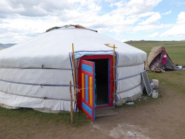 Maison actuelle dans la campagne mongole, connue sous le nom de ger (mongol) ou yourte (russe). (Image : Christina Warinner)