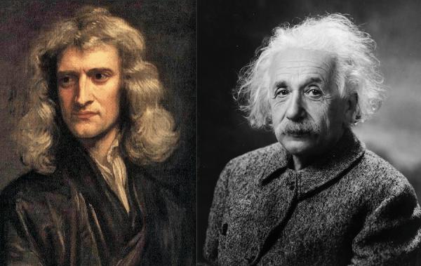 Isaac Newton et Albert Einstein ont découvert que la réponse ultime aux questions sur l'univers ne pouvait que pointer vers Dieu. (Image : wikimedia / Photograph by Oren Jack Turner, Princeton, N.J. / Domaine public & wikimedia / After Godfrey Kneller / Domaine public)