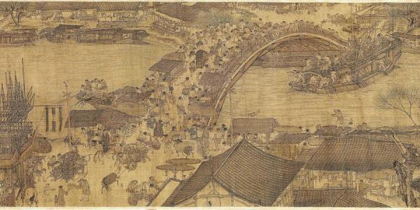 Œuvre picturale de Zhang Zeduan (1085 -1145) dénommée «Le Jour de Qingming au bord de la rivière». (Image : wikimedia / Zhang Zeduan / Domaine public)