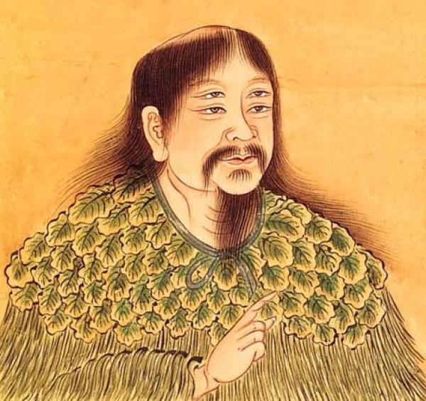 Cang Jie, l'historien officiel de l'Empereur jaune, est né avec quatre yeux et c'est lui qui a créé l'écriture chinoise. (Image : wikimedia / Domaine public)