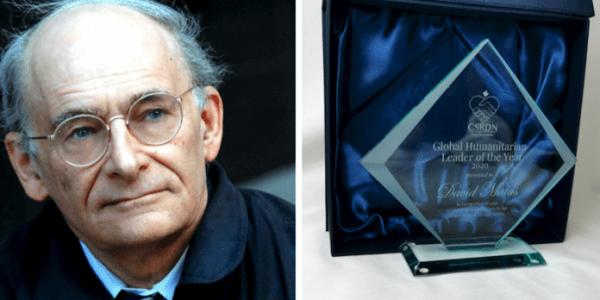 L'avocat des droits humains David Matas a reçu le tout premier prix du «leader humanitaire mondial de l'année» décerné par le groupe de défense des droits humains «Canadiens en soutien aux réfugiés en détresse».(Image : endtransplantabuse.org)