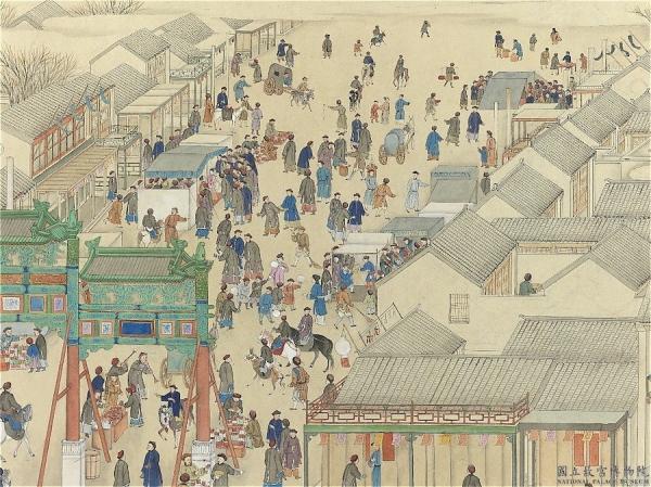 Le marché du Nouvel An. (Image : Musée Nationale du Palais deTaiwan / @CC BY 4.0)