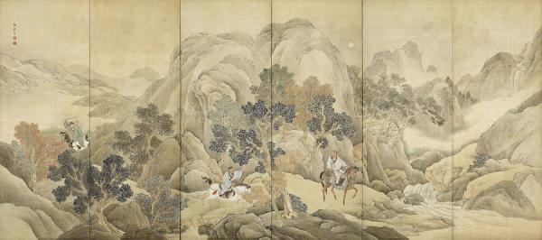 Xiao He s'est empressé de poursuivre Han Xin à cheval. Finalement, il a pu le rejoindre, près d'une rivière. (Image : wikimedia / Yosa Buson (1716-1784) / Domaine public)