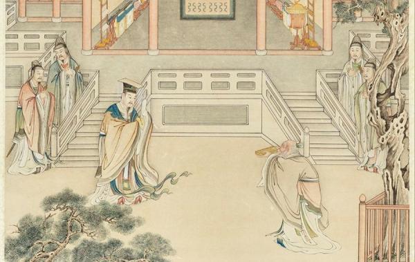 L'empereur Zhou Wuwang reçoit le livre des rites céleste qui l'aidera à gouverner le pays. Il a transmis les valeurs « respect » et « pour le peuple » aux générations suivantes et la dynastie Zhou a duré 800 ans, la plus longue dynastie en Chine. (Image :Musée Nationale du Palais deTaiwan / @CC BY 4.0)