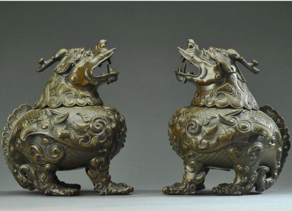 Pixiu, créature sacrée chinoise. (Image : wikimedia / Sol lc / CC BY-SA 4.0)
