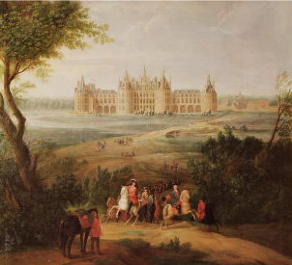 «Le château de Chambord et son domaine», peinture de Pierre-Denis Martin, 1722. (Image : wikimedia / Pierre-Denis Martin (1663-1742) / Domaine public)