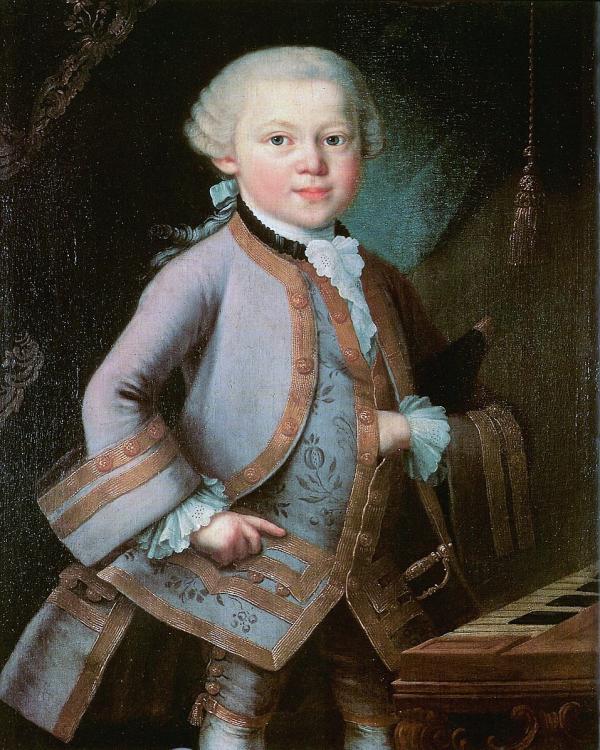 Diverses expériences ont montré que la musique de Mozart a le pouvoir de stimuler le système nerveux cérébral à partir de la moelle épinière, d'activer les nerfs parasympathiques, apportant la détente au corps et à l'esprit. (Image : wikimedia : AnonymousUnknown author, possibly by Pietro Antonio Lorenzoni (1721-1782) / Domaine public)