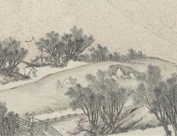 Une dizaine de coutumes du Festival de la Nourriture Froide ont également été intégrées au Festival de Qing Ming, notamment : le culte du balayage des tombes, le culte des ancêtres, les sorties… (Image : Musée Nationale du Palais deTaïwan / @CC BY 4.0)