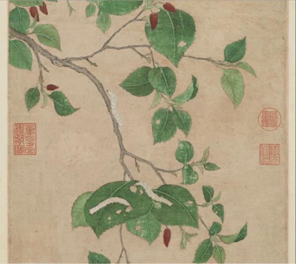 De nombreux habitants du Zhejiang sont des sériciculteurs et de nombreuses coutumes sont donc liées à l'élevage du vers à soie. (Image : Musée Nationale du Palais deTaïwan / @CC BY 4.0)