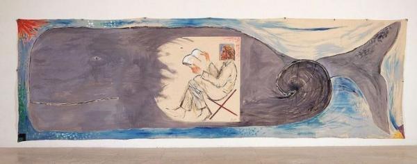 Leviathan» (1983), une peinture de Michael Sgan-Cohen, Collection du Musée d'Israël, Jérusalem.(Image :Michael Sgan-Cohen /wikimedia/CC BY-SA 3.0)