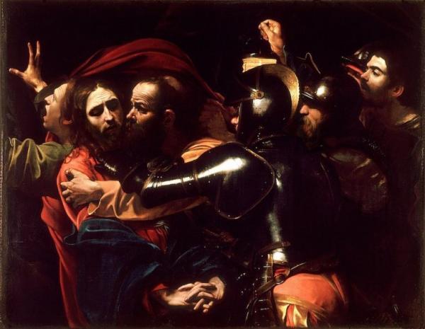 Peinture de Caravaggio « La capture du christ».(Image:wikimedia/ Caravaggio /Domaine public)