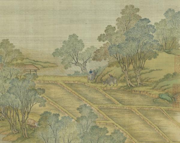 Peut-être trouver un endroit où se reposer. Le poète a alors demandé au jeune berger, où se trouvait la taverne. (Image : Musée Nationale du Palais deTaïwan /@CC BY 4.0)