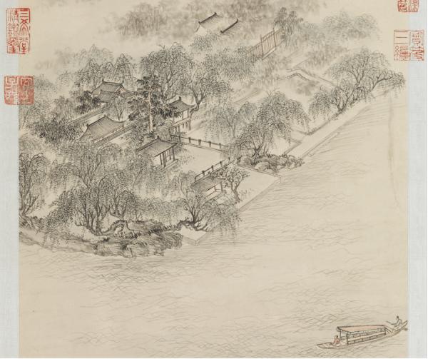 Qing, Dong Bangda, Les loriots chantent dans les saules près du Lac de l'Ouest. (Image : Musée Nationale du Palais deTaïwan / @CC BY 4.0)