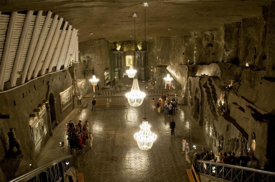 Les prestigieuses mines de sel de Wieliczka, en Pologne