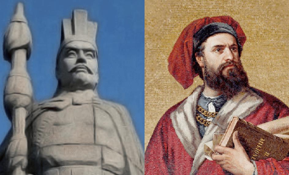 Analogies entre Marco Polo et Zhang Qian